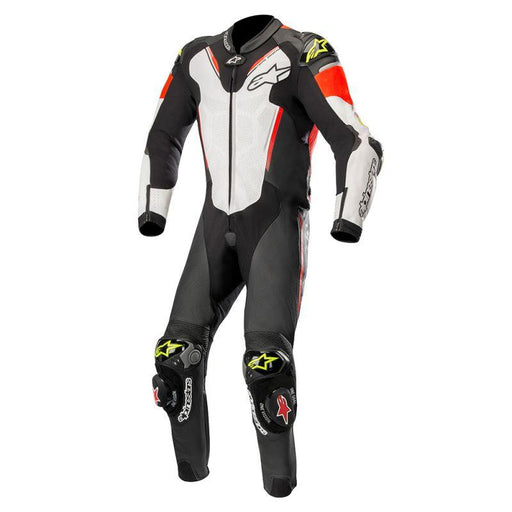 Alpinestars Atem V3 One Piece Leather Suits Motorcycle Leather Suit Alpinestars Black/White/Fluo Red/Fluo Yellow 48