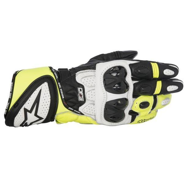 Alpinestars GP Plus R Leather Gloves Men's Motorcycle Gloves Alpinestars Black/White/Yellow S