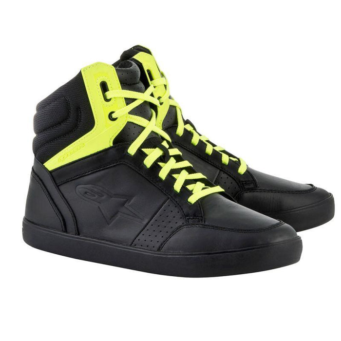Alpinestars J-8 Riding Shoes Men's Motorcycle Boots Alpinestars Black/Fluo Yellow 8