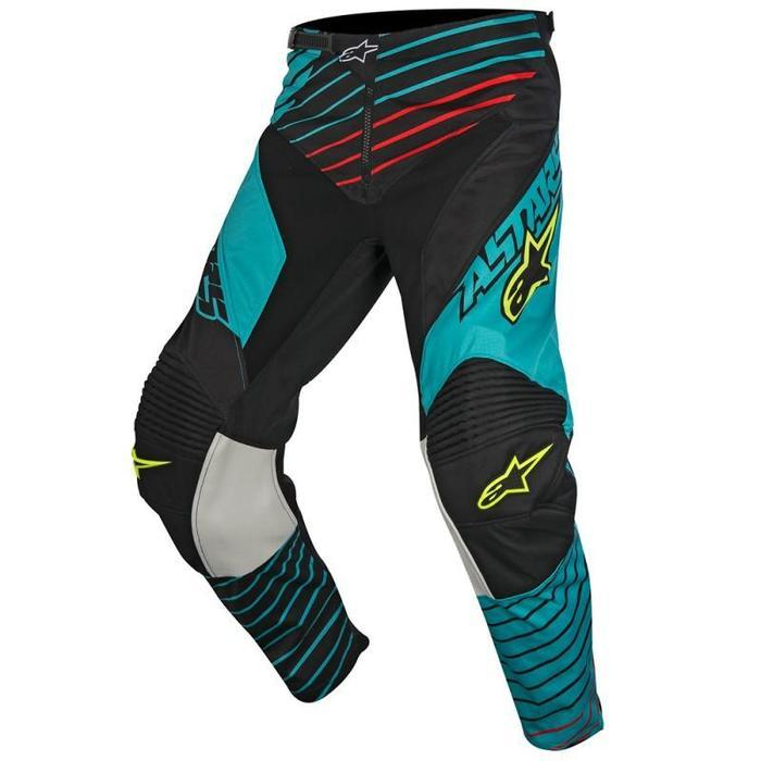 Alpinestars Racer Braap S7 Pants Men's Motocross Pants Alpinestars Teal/Black/Yellow 28