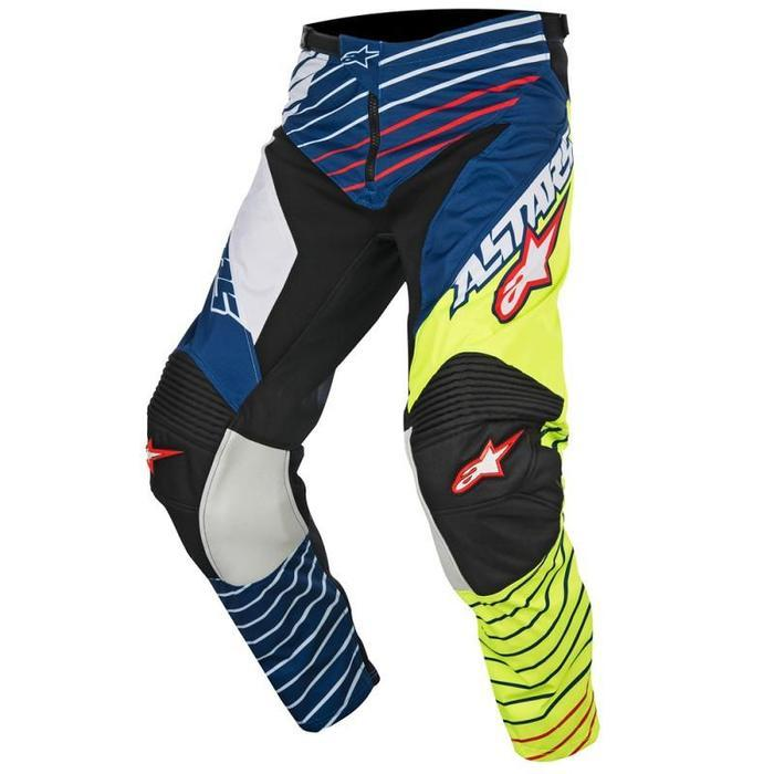 Alpinestars Racer Braap S7 Pants Men's Motocross Pants Alpinestars Yellow/White/Blue 28
