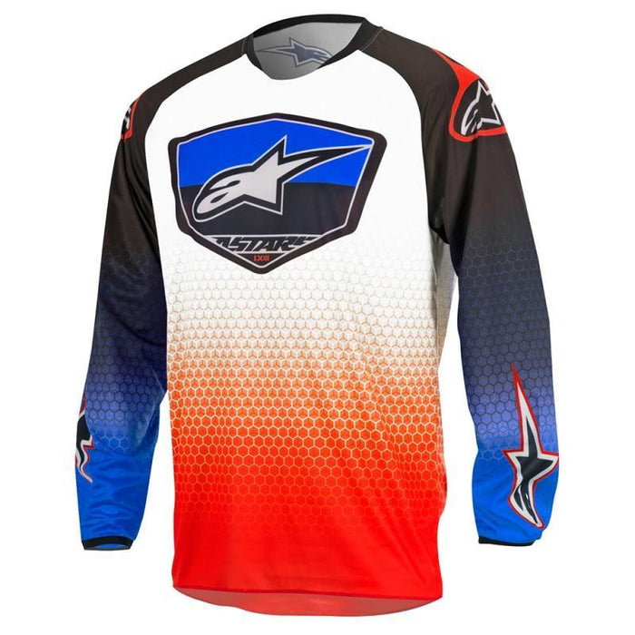 Alpinestars Racer Supermatic Jersey in Red/Blue/White Men's Motocross Jerseys Alpinestars