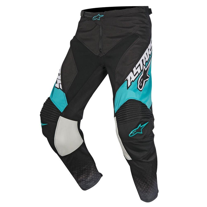 Alpinestars Racer Supermatic Pants in Black/Grey/Teal Men's Motocross Pants Alpinestars