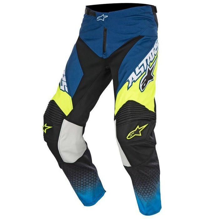 Alpinestars Racer Supermatic Pants in Blue/Cyan/Yellow Men's Motocross Pants Alpinestars