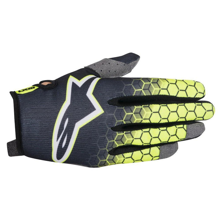 Alpinestars Radar Flight Motocross/Off-road Glove in Anthracite/Yellow/Grey Motocross Gloves Alpinestars