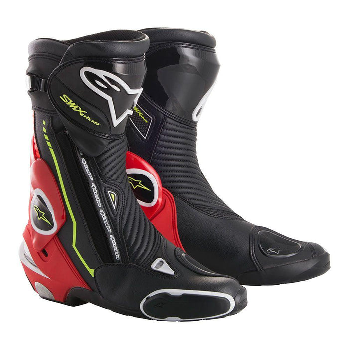 Alpinestars SMX Plus Boots Men's Motorcycle Boots Alpinestars Black/Red/White/Fluo Yellow 42