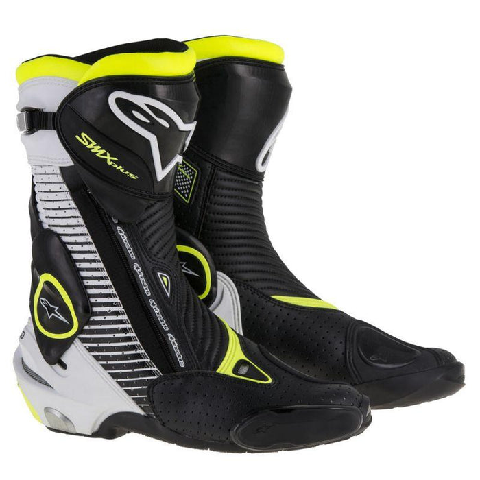 Alpinestars SMX Plus Boots Men's Motorcycle Boots Alpinestars Black/White/Fluo Yellow 42