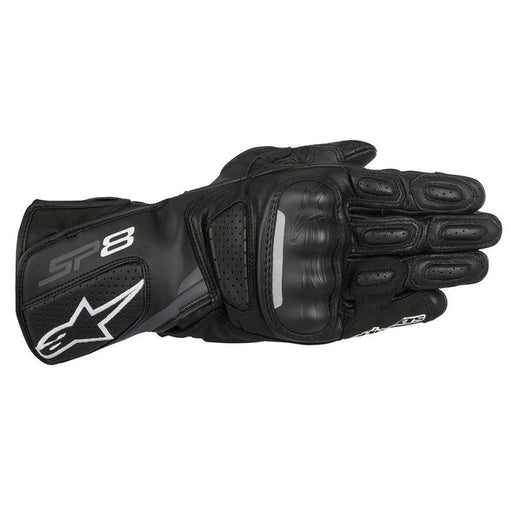 Alpinestars SP-8 V2 Leather Gloves Men's Motorcycle Gloves Alpinestars Black/Dark Gray S