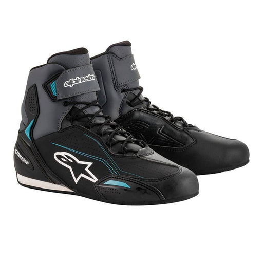 Alpinestars Stella Faster 3 Riding Shoes Men's Motorcycle Boots Alpinestars Black/Gray/Ocean 5