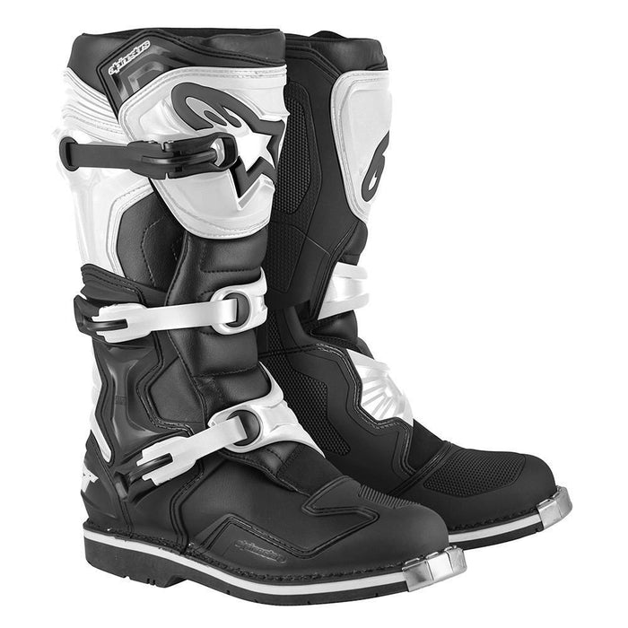 Alpinestars Tech 1 Motocross Boot in Black/White Motocross Boots Alpinestars