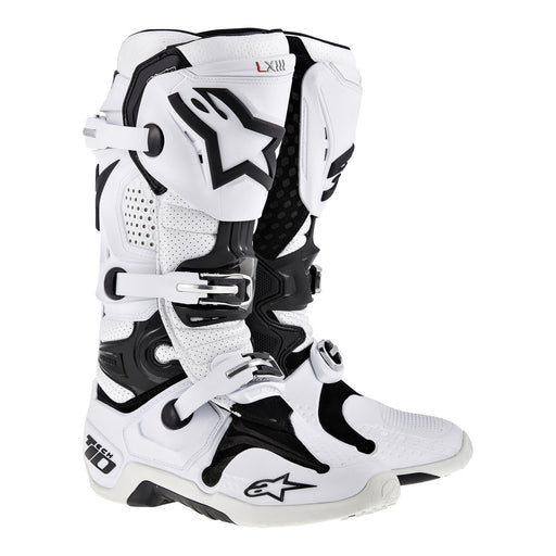 Alpinestars Tech 10 Motocross/Off-road Boot in White Motocross Boots Alpinestars