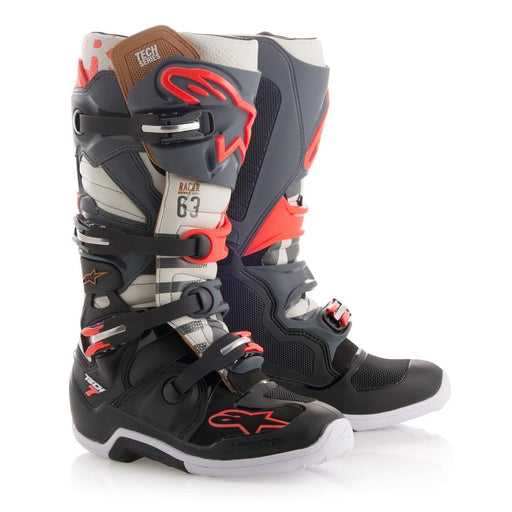 Alpinestars Tech 7 Boots - NEW COLORS! Motocross Boots Alpinestars Black Jack 8