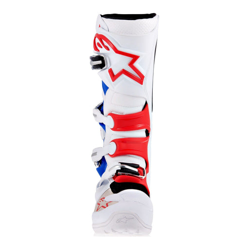 Alpinestars Tech 7 Motocross/Off-road Boot in White/Blue/Red Motocross Boots Alpinestars