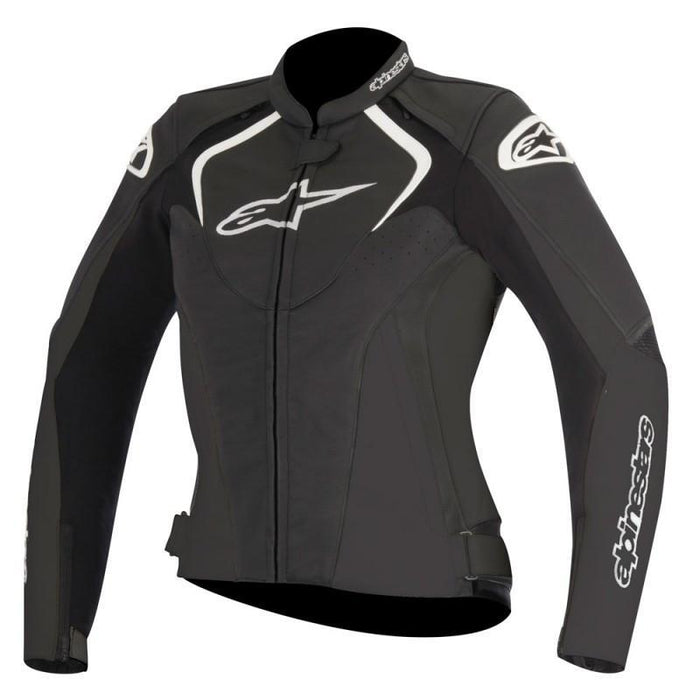 Alpinestars Women's Stella Jaws Leather Jackets Women's Motorcycle Jackets Alpinestars Black 38