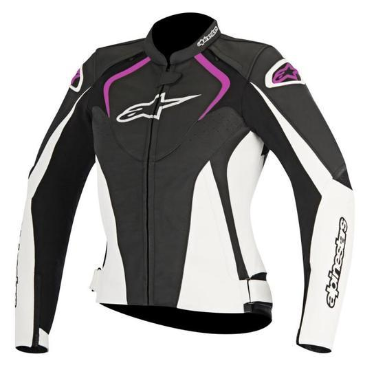 Alpinestars Women's Stella Jaws Leather Jackets Women's Motorcycle Jackets Alpinestars Black/White/Pink 38