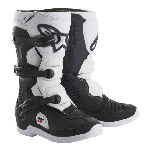 Alpinestars Youth Tech 3S Motocross/Off-Road Boots Motocross Boots Alpinestars Black/White 2