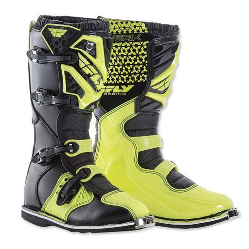 FLY RACING Maverik Boots Black/High Viisibility Motocross Boots Fly Racing