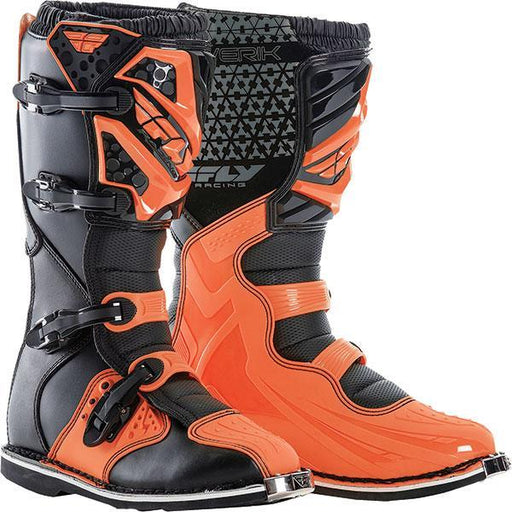 FLY RACING Maverik MX Boot Orange Motocross Boots Fly Racing