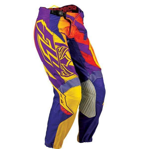 FLY RACING Men's Kinetic LD RC Pant Purple/Yellow Men's Motocross Pants Fly Racing