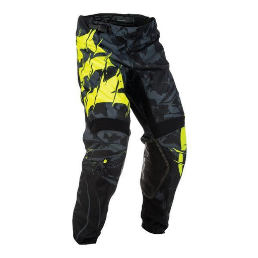 FLY RACING Men's Kinetic Olw Pant Black/High-Visibility Men's Motocross Pants Fly Racing