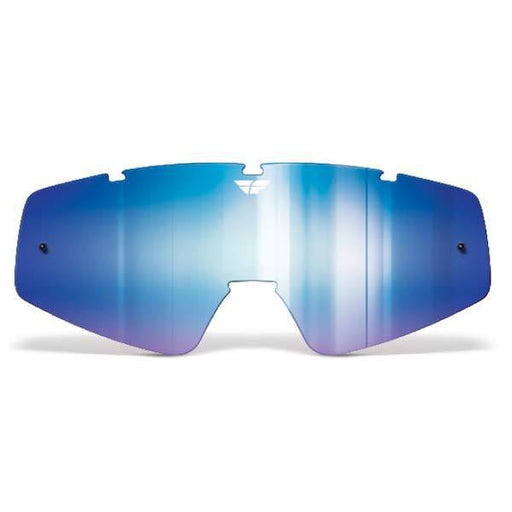 FLY RACING Youth Focus/Zone Lens Blue Mirror/Smoke Youth Motocross Goggles Fly Racing