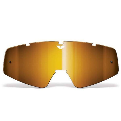 FLY RACING Youth Focus/Zone Lens Chrome/Amber Youth Motocross Goggles Fly Racing