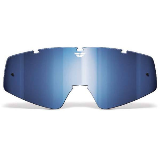 FLY RACING Youth Focus/Zone Lens Chrome/Blue Youth Motocross Goggles Fly Racing