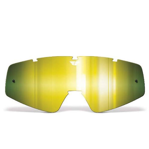 FLY RACING Youth Focus/Zone Lens Gold Mirror/Yellow Youth Motocross Goggles Fly Racing