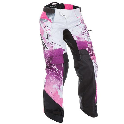 FLY RACING Youth Kinetic Over the Boot Pants Pink/Purple Youth Motocross Pants Fly Racing