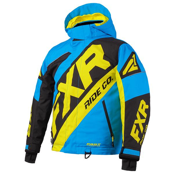 FXR Child/Youth CX Jackets Child & Youth Snowmobile Jackets FXR Blue/Black/Hi-Vis Child 2