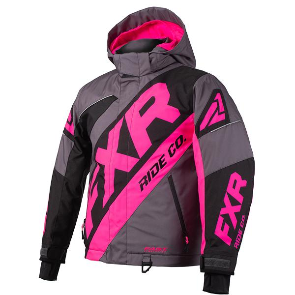 FXR Child/Youth CX Jackets Child & Youth Snowmobile Jackets FXR Charcoal/Black/Electric Pink Child 2