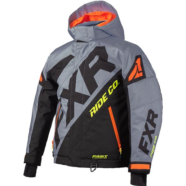 FXR Child/Youth CX Jackets Child & Youth Snowmobile Jackets FXR Grey/Black/Orange/Hi-Vis Child 2