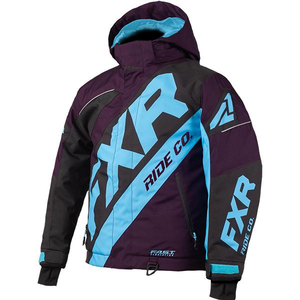FXR Child/Youth CX Jackets Child & Youth Snowmobile Jackets FXR Plum/Black/Blue Child 2