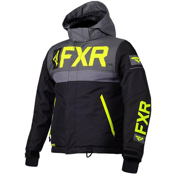 FXR Child/Youth Helium Jackets Child & Youth Snowmobile Jackets FXR Black/Charcoal/Grey/Hi-Vis Child 2