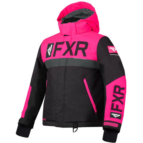 FXR Child/Youth Helium Jackets Child & Youth Snowmobile Jackets FXR Black/Fuchsia/Charcoal Child 2