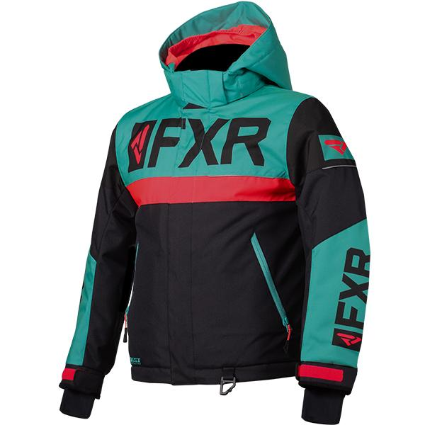 FXR Child/Youth Helium Jackets Child & Youth Snowmobile Jackets FXR Black/Mint/Coral Child 2