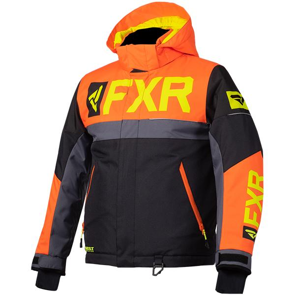 FXR Child/Youth Helium Jackets Child & Youth Snowmobile Jackets FXR Black/Orang/Charcoal/Hi-Vis Child 2