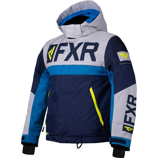 FXR Child/Youth Helium Jackets Child & Youth Snowmobile Jackets FXR Navy/Light Grey/Blue/Hi-Vis Child 2