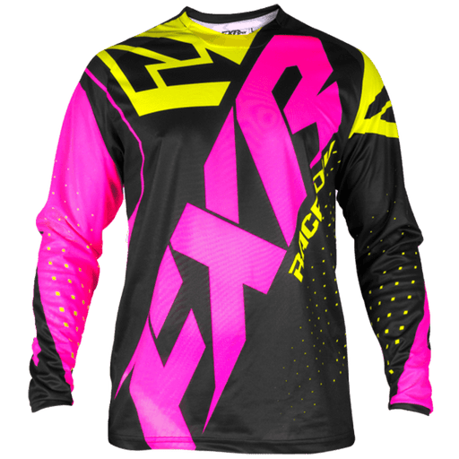 FXR Clutch Prime MX Jersey Men's Motocross Jerseys FXR Black/Electric Pink/HiVis S