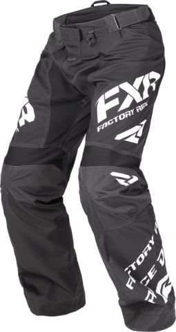FXR Cold Cross Race Ready Pant Black/White Men's Snowmobile Pants FXR