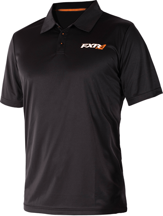 FXR M Infinite Tech Polo Shirt Black/Orange Men's Casual FXR