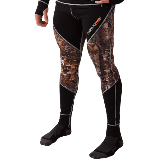 FXR M Vapour 20% Merino Pant Black/Realtree™ Men's Base Layers FXR