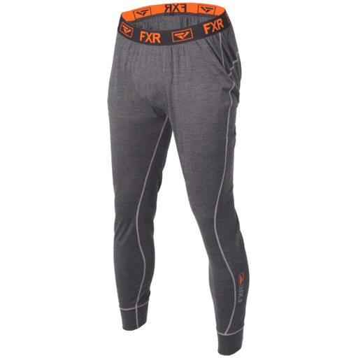 FXR M Vapour 50% Merino Pant Char/Orange Men's Base Layers FXR