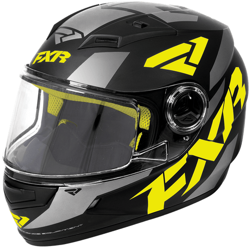 FXR Nitro Youth Core Helmet Black/Hi-vis/Charcoal Child & Youth Snowmobile Helmets FXR