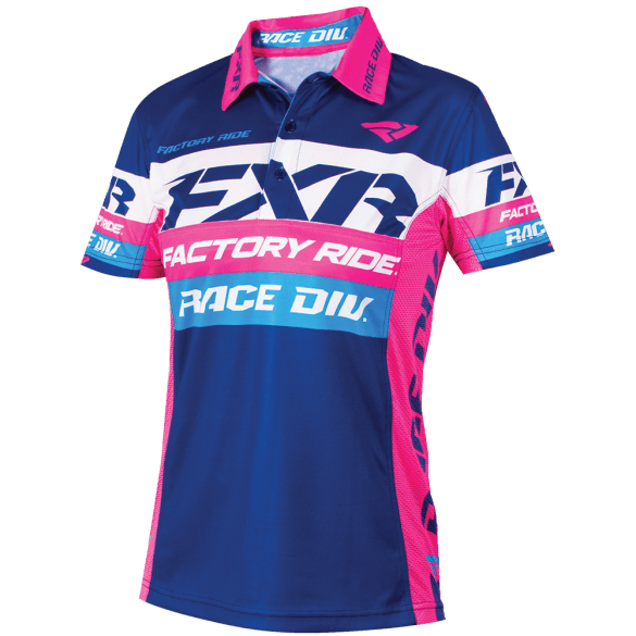FXR W Race Division Polo Shirt Navy/Fuchsia Women's Casual FXR