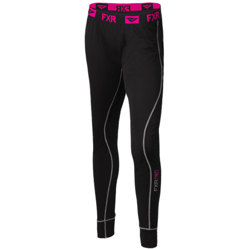 FXR W Vapour 20% Merino Pant Black/Fuchsia Women's Base Layers FXR