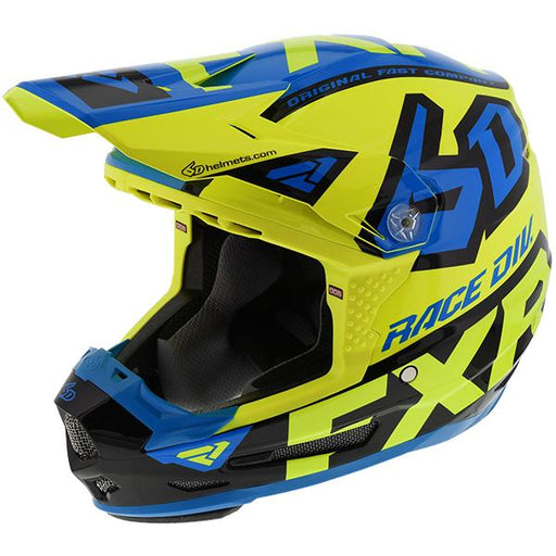 FXR Youth 6D ATR-2Y Patriot Helmets Child & Youth Snowmobile Helmets FXR Hi-Vis/Blue/Black S
