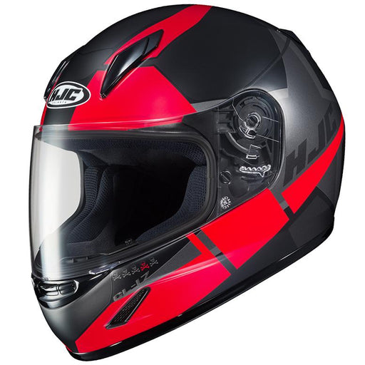 HJC CL-Y Boost Helmets Child & Youth Snowmobile Helmets HJC Semi-Flat Black/Red S