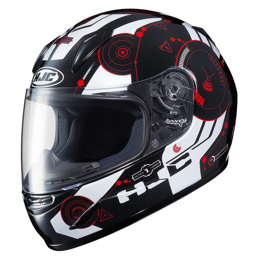 HJC CL-Y Simtic Helmets Child & Youth Snowmobile Helmets HJC Black/Red/White S