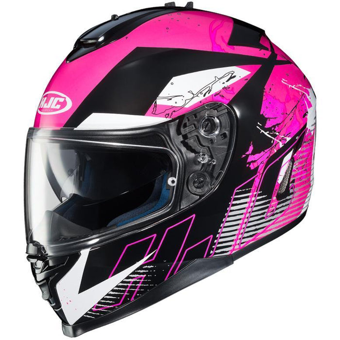 HJC IS-17 Blur Helmet Motorcycle Helmets HJC Black/Pink XS